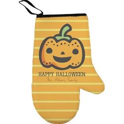 Halloween Pumpkin Right Oven Mitt (Personalized)