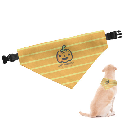 Halloween Pumpkin Dog Bandana (Personalized)