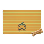 Halloween Pumpkin Pet Bowl Mat (Personalized)