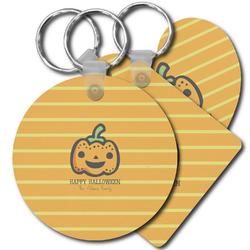 Halloween Pumpkin Plastic Keychains (Personalized)