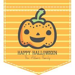 Halloween Pumpkin Iron On Faux Pocket (Personalized)