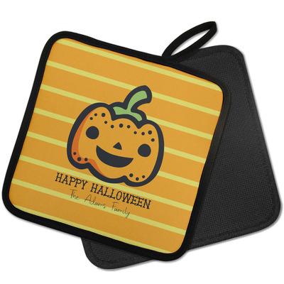 Halloween Pumpkin Pot Holder w/ Name or Text