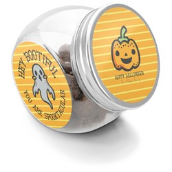 Halloween Pumpkin Puppy Treat Jar (Personalized)