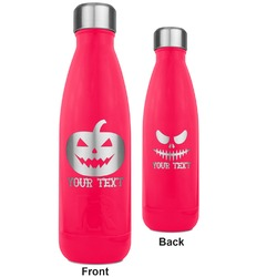 Halloween Pumpkin RTIC Bottle - 17 oz. Pink - Engraved Front & Back (Personalized)
