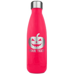 Halloween Pumpkin RTIC Bottle - 17 oz. Pink (Personalized)