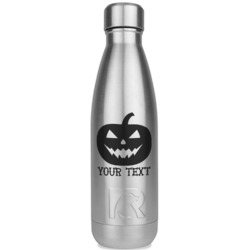 Halloween Pumpkin RTIC Bottle - Silver (Personalized)