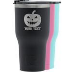 Halloween Pumpkin RTIC Tumbler - Black (Personalized)
