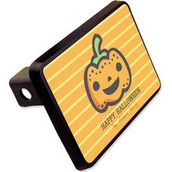 "Halloween Pumpkin Rectangular Trailer Hitch Cover - 2"" (Personalized)"