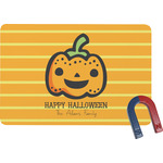 Halloween Pumpkin Rectangular Fridge Magnet (Personalized)