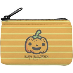 Halloween Pumpkin Rectangular Coin Purse (Personalized)