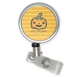 Halloween Pumpkin Retractable Badge Reel (Personalized)
