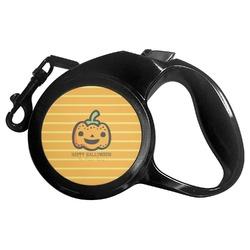 Halloween Pumpkin Retractable Dog Leash - Multiple Sizes (Personalized)