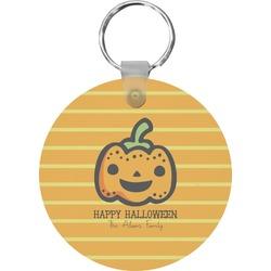 Halloween Pumpkin Round Keychain (Personalized)