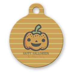 Halloween Pumpkin Round Pet Tag (Personalized)