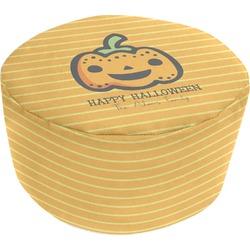 Halloween Pumpkin Round Pouf Ottoman (Personalized)