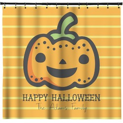 Halloween Pumpkin Shower Curtain (Personalized)