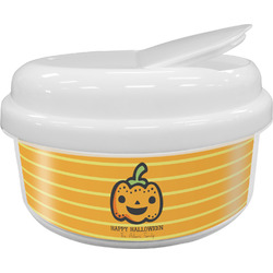 Halloween Pumpkin Snack Container (Personalized)