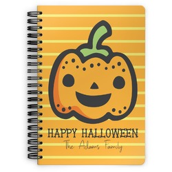 Halloween Pumpkin Spiral Bound Notebook (Personalized)
