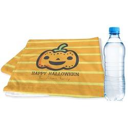 Halloween Pumpkin Sports & Fitness Towel (Personalized)