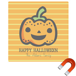 Halloween Pumpkin Square Car Magnet (Personalized)