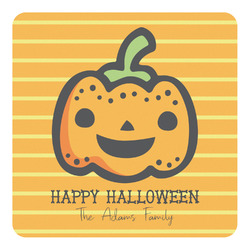 Halloween Pumpkin Square Decal (Personalized)