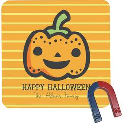 Halloween Pumpkin Square Fridge Magnet (Personalized)
