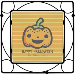 Halloween Pumpkin Square Trivet (Personalized)