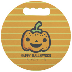 Halloween Pumpkin Stadium Cushion (Round) (Personalized)