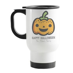 Halloween Pumpkin Stainless Steel Travel Mug with Handle