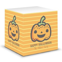 Halloween Pumpkin Sticky Note Cube (Personalized)