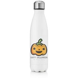 Halloween Pumpkin Tapered Water Bottle - 17 oz. - Stainless Steel (Personalized)