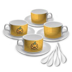 Halloween Pumpkin Tea Cup - Set of 4 (Personalized)