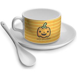 Halloween Pumpkin Tea Cup - Single (Personalized)