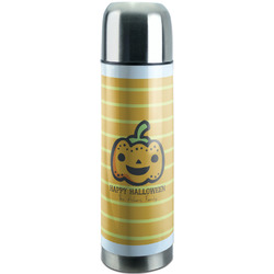Halloween Pumpkin Stainless Steel Thermos (Personalized)