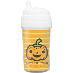 Halloween Pumpkin Toddler Sippy Cup (Personalized)