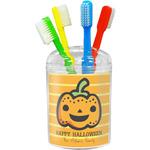 Halloween Pumpkin Toothbrush Holder (Personalized)