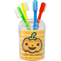 Halloween Pumpkin Toothbrush Holder (Personalized)