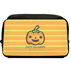 Halloween Pumpkin Toiletry Bag / Dopp Kit (Personalized)