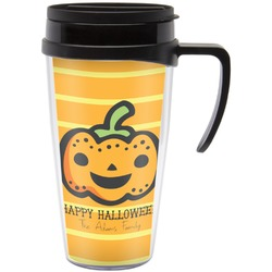 Halloween Pumpkin Travel Mug with Handle (Personalized)