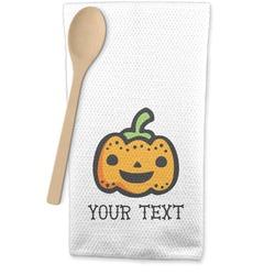 Halloween Pumpkin Waffle Weave Kitchen Towel (Personalized)