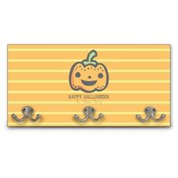 Halloween Pumpkin Wall Mounted Coat Rack (Personalized)