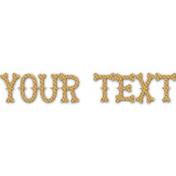 Halloween Pumpkin Name/Text Decal - Custom Sizes (Personalized)