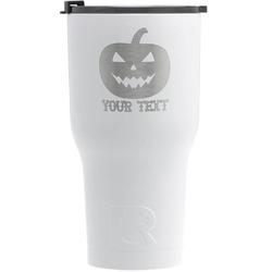 Halloween Pumpkin RTIC Tumbler - White (Personalized)