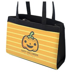 Halloween Pumpkin Zippered Everyday Tote (Personalized)