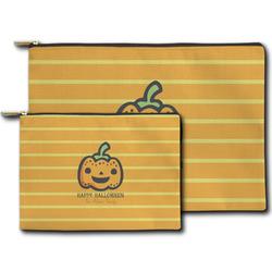 Halloween Pumpkin Zipper Pouch (Personalized)