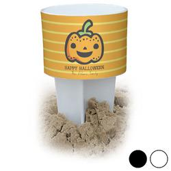 Halloween Pumpkin Beach Spiker Drink Holder (Personalized)