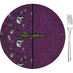 "Witches On Halloween 8"" Glass Appetizer / Dessert Plates - Single or Set (Personalized)"
