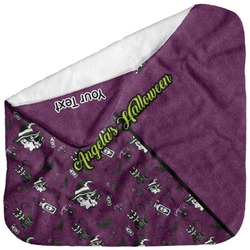 Witches On Halloween Baby Hooded Towel (Personalized)