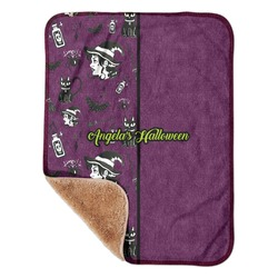 "Witches On Halloween Sherpa Baby Blanket 30"" x 40"" (Personalized)"