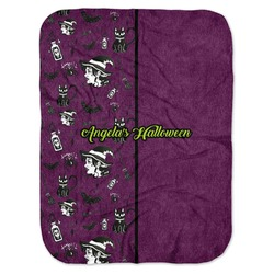 Witches On Halloween Baby Swaddling Blanket (Personalized)